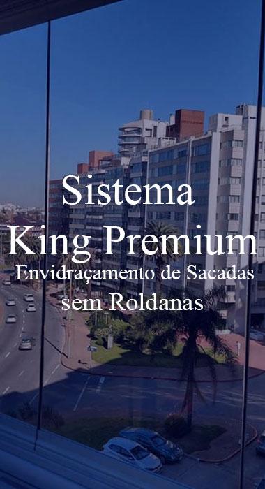 Sistema King Premium de Envidraçamento de Sacadas Sem Roldanas