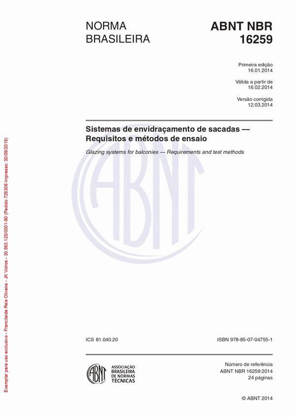 CERTICADO ABNT NBR 16259-1